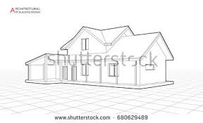 architectural drawings of modern houses. Fine Modern Modern House Building Vector Architectural Drawings 3d Illustration On Drawings Of Houses