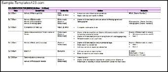 Sample Wedding Itinerary For Malay Free Download Sample