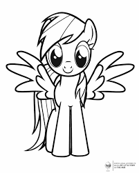 my little pony with wings free printable coloring pages
