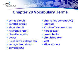 4 chapter 20 voary terms