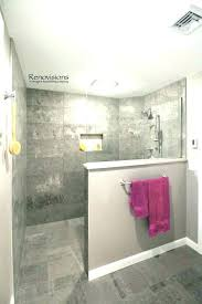 half wall glass shower walk in partition creative bathrooms with walls install block you