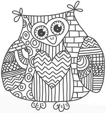 Too Hard Owl Coloring Page Free