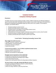 Course Proposal Template Customer Service Company Training Proposal Template Pdf