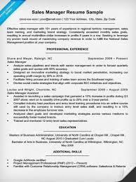 Sales Manager Resume Example Musiccityspiritsandcocktail Com