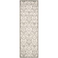 safavieh amherst dark gray beige 2 ft x 11 ft indoor outdoor