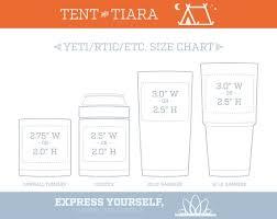 Yeti Cup Decal Size Chart Www Bedowntowndaytona Com