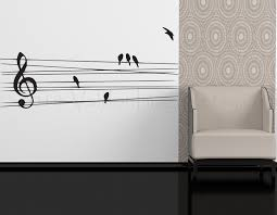 Wall Decor Living Room Birds On A Wire Wall Decal Music Wall Decal Bedroom Wall Decal