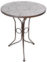 Table Gueridon Mosaique Avec Plateau Echec Table De Jardin Petite Table Cuisine