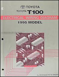 1995 toyota t100 truck wiring diagram manual original