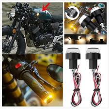 <b>2pcs Motorcycle Turn Signal</b> LED Light Indicator Blinker Handle Bar ...