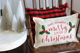 Superb Finished Christmas Pillow Made From Placemats From The Target Dollar Spot