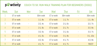 Couch To 5k Run Walk Plan For Dogs Pawtivity