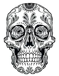 pictures of skulls to color. Exellent Skulls Free Skull Coloring Pages Sugar Skulls Color S And Pictures Of Skulls To Color E