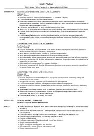 Resume Template Executive Assistant Administrative Assistant Marketing Resume Samples Velvet Jobs