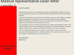 medical representative cover letter sample sample medical representative cover letter
