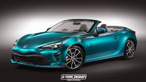 Facelifted Toyota GT 86 Convertible Render Is Food For Thought ...