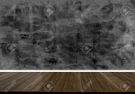 Abstract Wood Floor Texture And Printed Dark Concrete Wall Texture