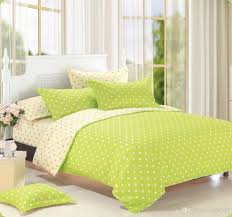 duvet cover green polka dot