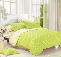 duvet cover green polka dot