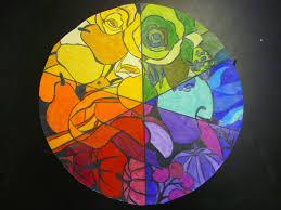 Color Wheel Design Project Mrs Highsmith Loves Art Example Of Finished Color Wheel Project