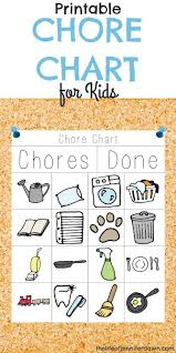 Interactive Chore Chart Printable Chore Chart For Kids That Is Fun And Interactive