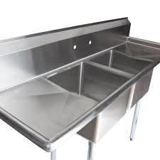 stainless steel two compartment commercial sink with 2 drainboards main picture image preview image preview