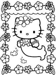 Mermaid Cat Coloring Pages
