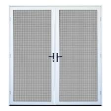 home depot patio screen doors lovely 64 in x 80 in white recessed mount outswing double