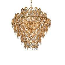 12 light gold crystal chandelier