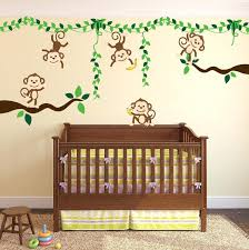 jungle wall decals monkey wall decal jungle wall decals for baby room