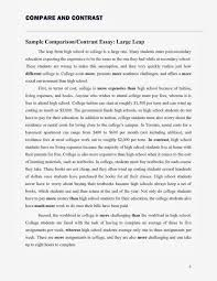 Comparative And Contrast Essay Topics Comparison Contrast Essay Two Articles