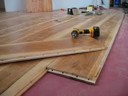 wide plank flooring installation
