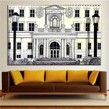homey ideas college wall art decals dorm town football for apartment