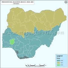 Nigeria Election Results Map Previous Election Results Map
