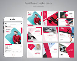 Red Fashion Social Media Post Template Vector Premium Download