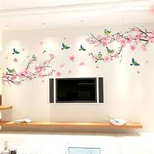 Small Picture Aliexpresscom Buy Sakura Wall Stickers Decal Bedroom Living
