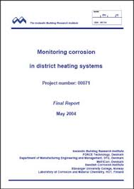 project report front page monitoring corrosion in district heating systems nordic innovation
