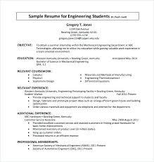 Sample Internship Resumes Format Resume Standard Resume Sample