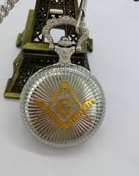 silver and gold masonic freemason free masonry theme alloy quartz fob pocket watch with necklace chain pocket watches watchs from nylonshan