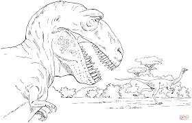 Small Picture Tyrannosaurus and Rex coloring page Free Printable Coloring Pages