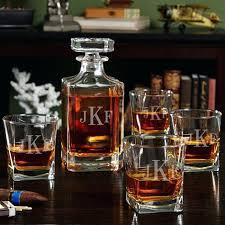 liquor glass set monogrammed liquor decanter set with rocks glasses cut glass whisky decanter set liquor glass set
