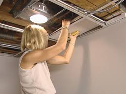 easy eye basement lighting. Drop Ceiling Panels Into Position Easy Eye Basement Lighting