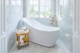 angled freestanding tub