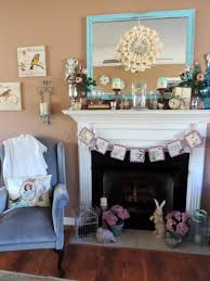 a pretty spring inspired mantel by lisa s creative designs rh lisascreativedesigns com