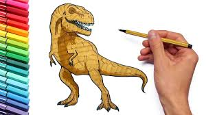 Small Picture Drawing and Coloring T Rex color page With Jurassic Park