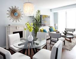 living room dining room combo.  Living Small Apartments Big Style Eclectic Living Dining Room Combine  Toronto  By Lisa Petrole Photography To Combo
