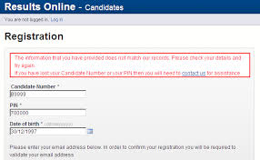 Cambridge Assessment – Testing Results When Online Candidates Admissions Error Registering For Message