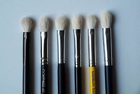 claire 39 s makeup brushes. l-r: no7 shadow \u0026 blending brush, mac 217, crown brush c433, sigma e25, bdellium 776, ebay 217 dupe claire 39 s makeup brushes