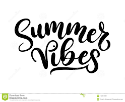 Summer Vibes Lettering Inscription Isolated On White Background