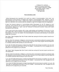 Sample Recommendation Letter Format 8 Examples In Pdf Word
